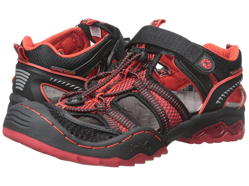 Jambu Kids - Piranha (Toddler/Little Kid/Big Kid) (Black/Red) Boy's Shoes