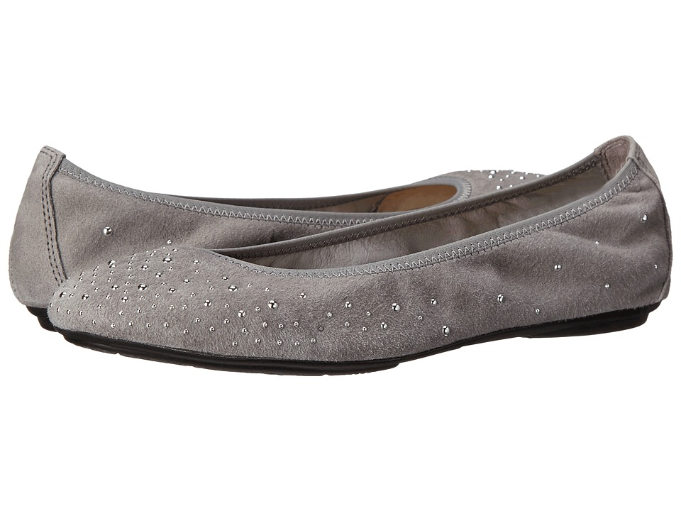 Hush Puppies - Lolly Chaste (Grey Suede) Women's Flat Shoes