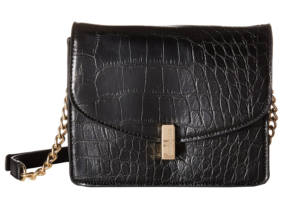 Kenneth Cole Reaction - Winged Victory Chain Flap (Black) Cross Body Handbags