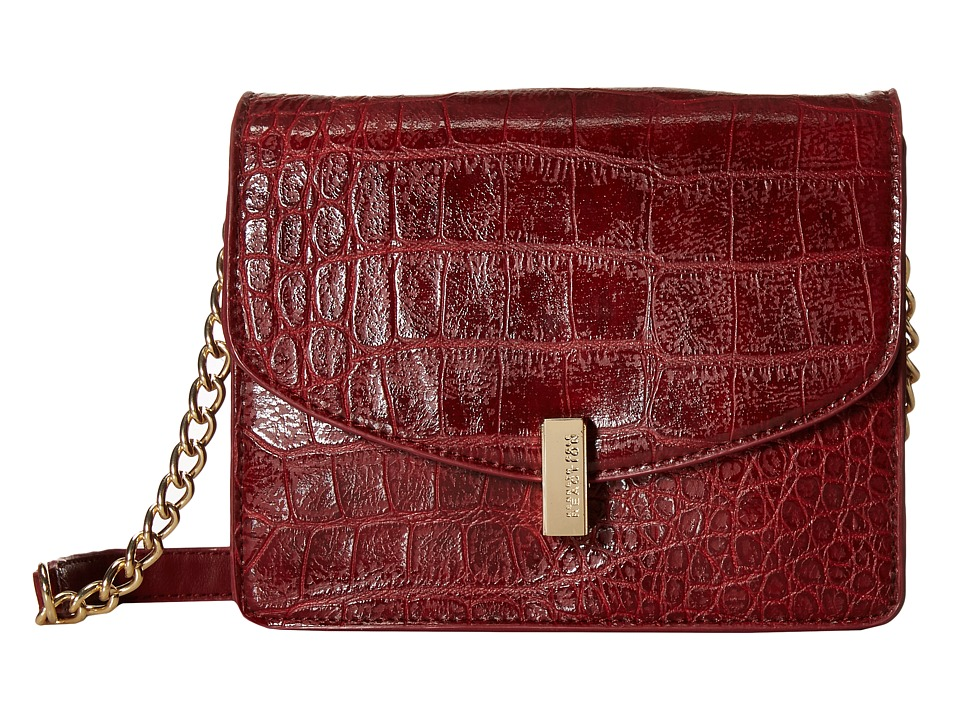 Kenneth Cole Reaction - Winged Victory Chain Flap (Bright Red Croco) Cross Body Handbags
