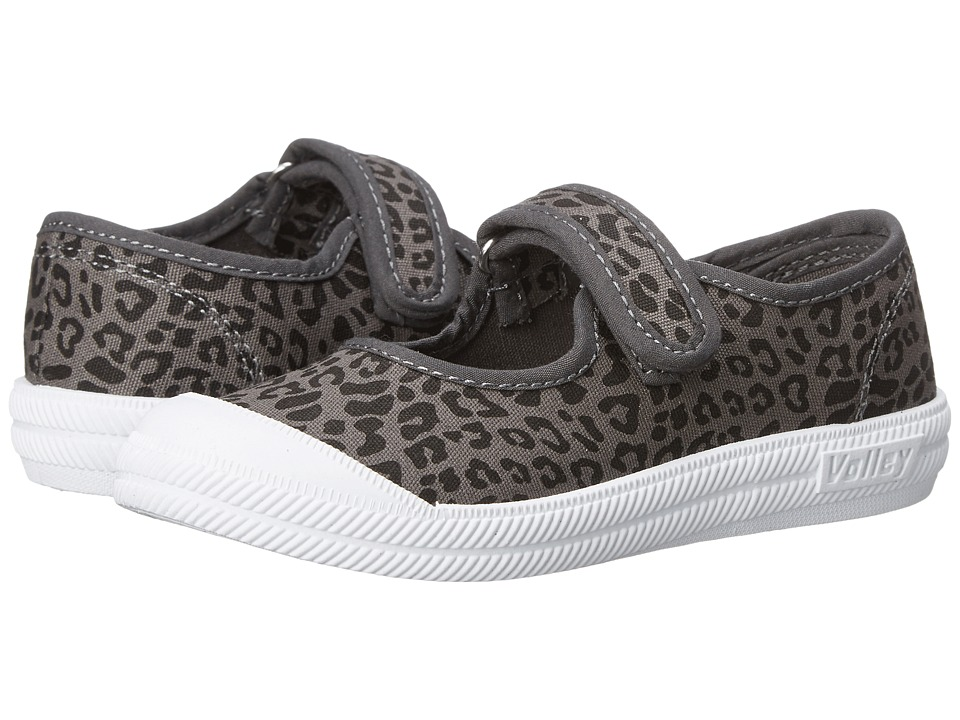 Volley Australia - Mary Jane (Toddler/Little Kid) (Charcoal/Black Leopard) Women's Maryjane Shoes