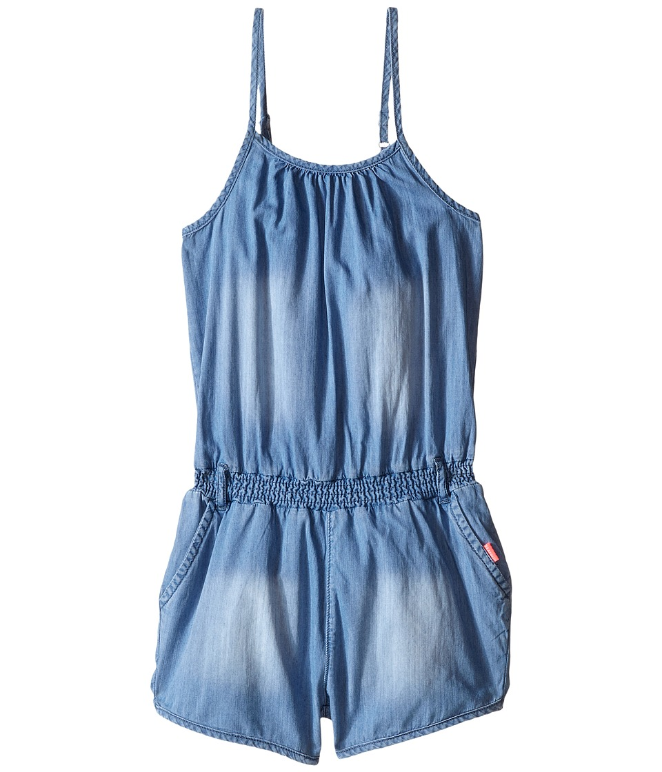 Seafolly Kids - Cartwheel Jumpsuit (Big Kids) (Denim) Girl's Jumpsuit & Rompers One Piece