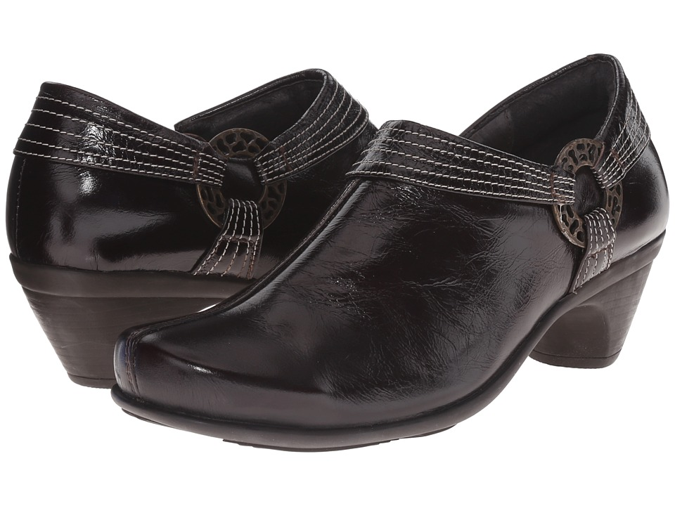 Naot Footwear - Tarot (Espresso Leather) Women's 1-2 inch heel Shoes
