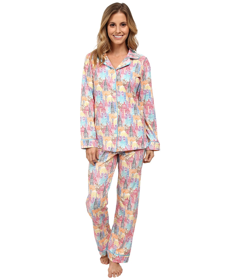 BedHead - Classic Stretch PJ Set (Multi Wonders of the World) Women's Pajama Sets