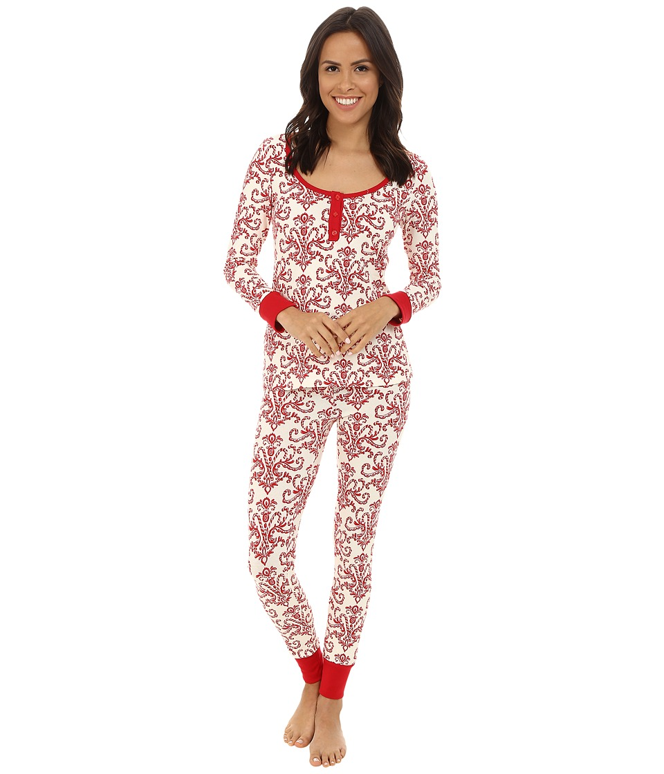 BedHead - Henley Stretch PJ Set (Candy Canes) Women's Pajama Sets