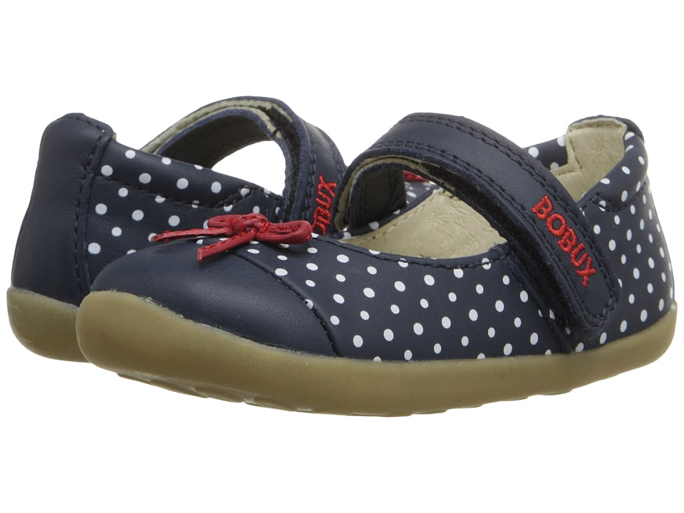 Bobux Kids - Step-Up Classic Swing (Infant/Toddler) (Navy/White) Girl's Shoes