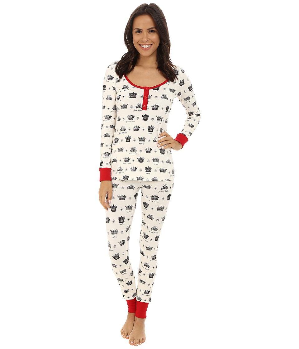 BedHead - Henley Stretch PJ Set (Crowns/Forever A Queen) Women's Pajama Sets