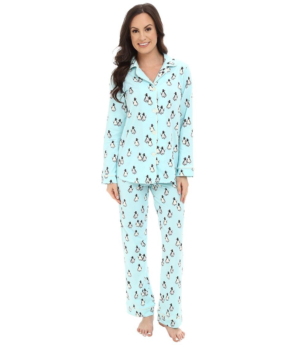 BedHead - Classic Blue Penguins PJ Set (Blue Penguins On Parade) Women's Pajama Sets