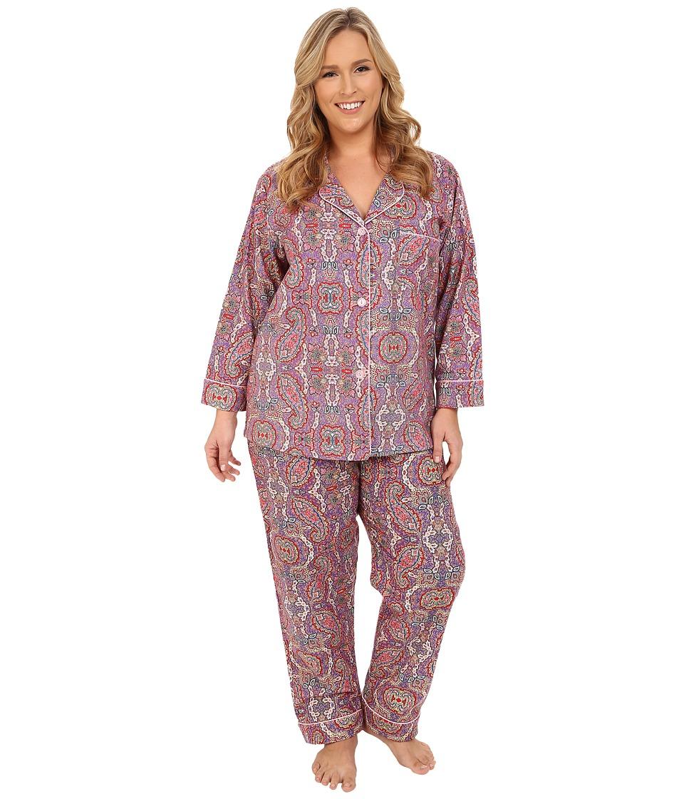BedHead - Plus Size Classic Boho Paisley PJ Set (Boho Paisley) Women's Pajama Sets
