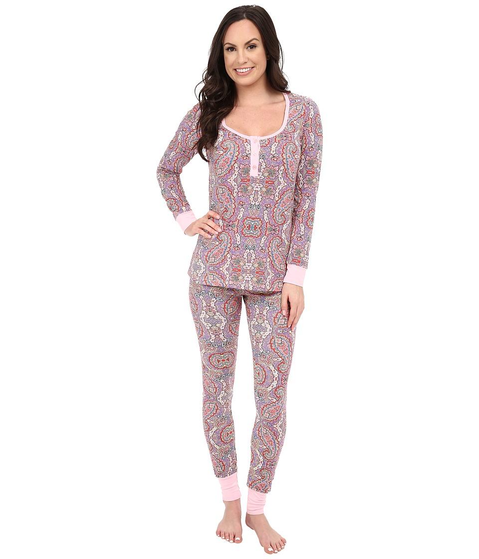BedHead - Henley Boho Paisely PJ Set (Boho Paisley) Women's Pajama Sets