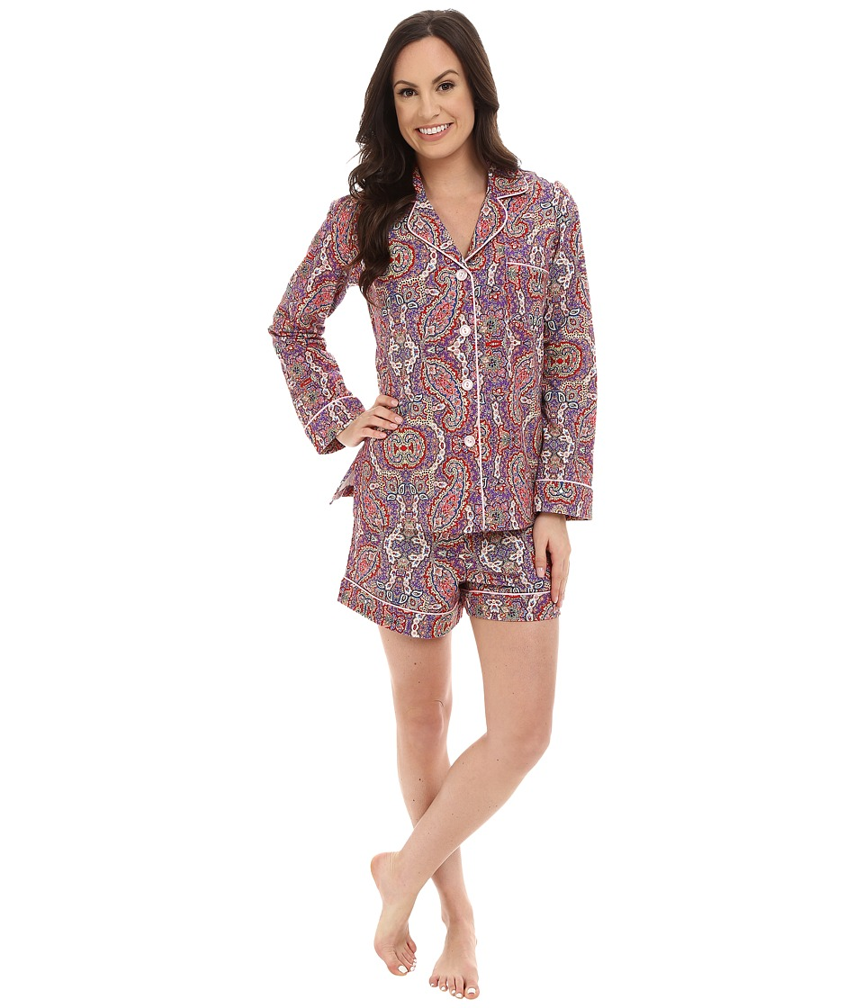BedHead - Long Sleeve Boho Paisley Shorty Set (Boho Paisley) Women's Pajama Sets