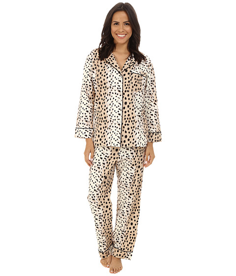 BedHead - Long Sleeve Classic Flannel PJ Set (Royal Animal) Women's Pajama Sets