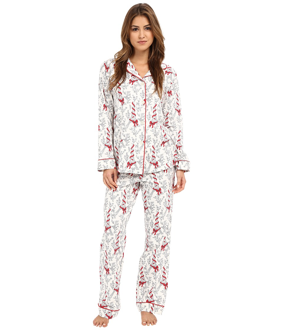 BedHead - Classic Stretch PJ Set (Bow Eiffel) Women's Pajama Sets