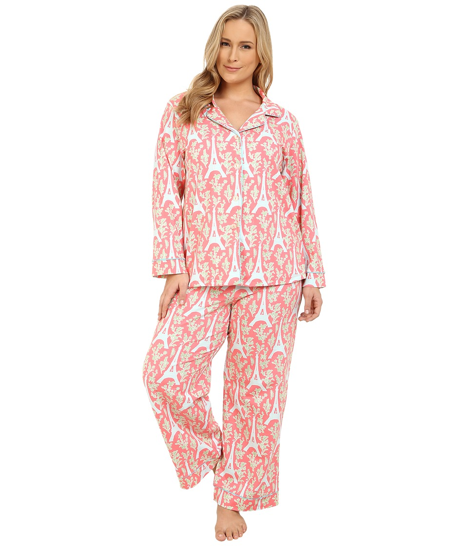 BedHead - Plus Size Classic Stretch PJ Set (Royal Eiffel) Women's Pajama Sets