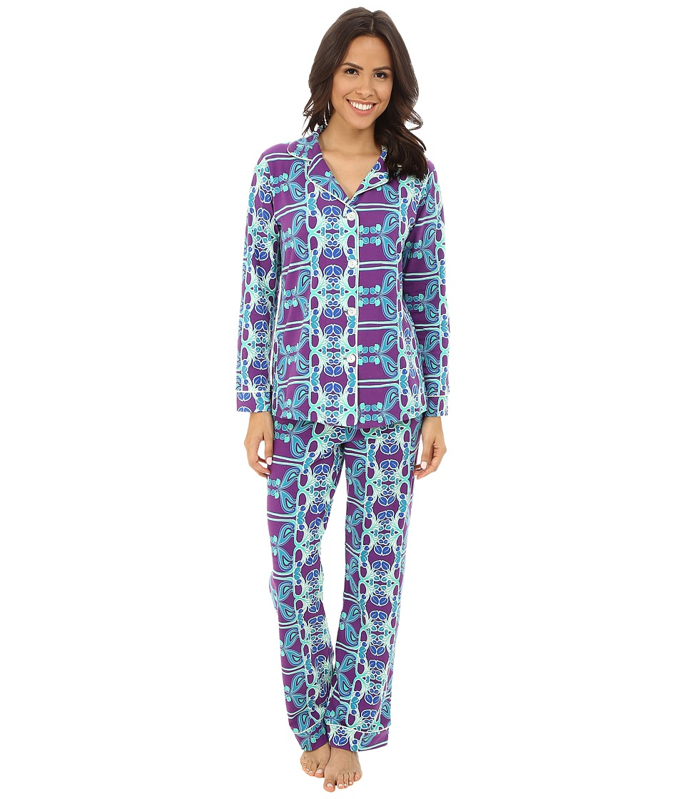 BedHead - Classic Stretch PJ Set (Deco Floral) Women's Pajama Sets