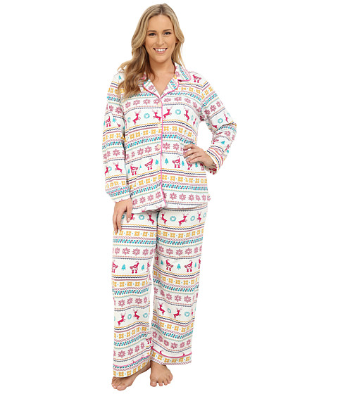 BedHead - Plus Size Classic Stretch PJ Set (Partridge Fair Isle) Women's Pajama Sets