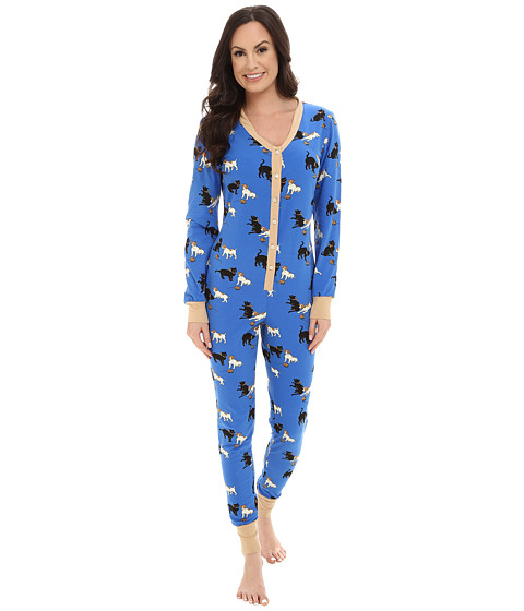 BedHead - Blue Cats and Dogs One-Piece (Blue Cats and Dogs) Women