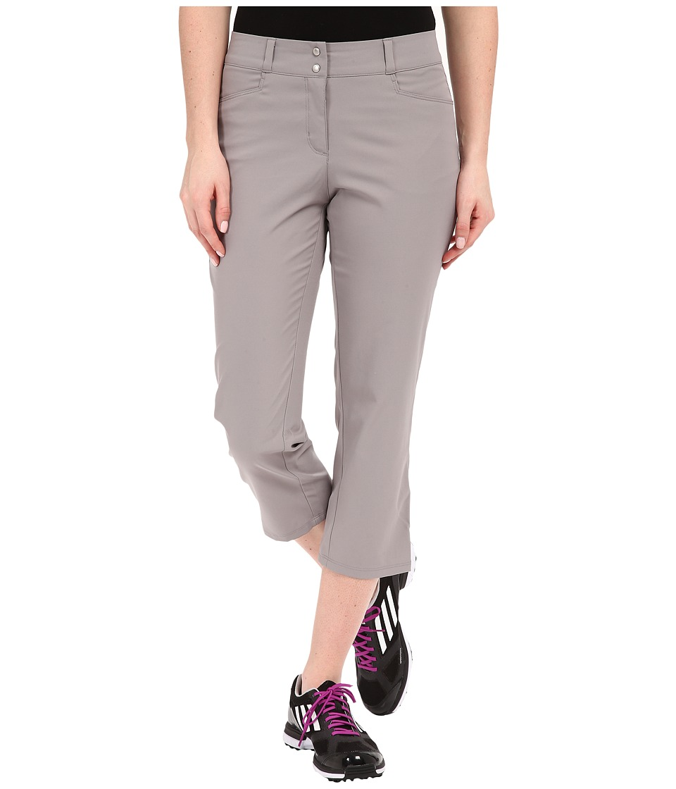 adidas Golf Essentials Lightweight Capris (Core Heather Grey) Women