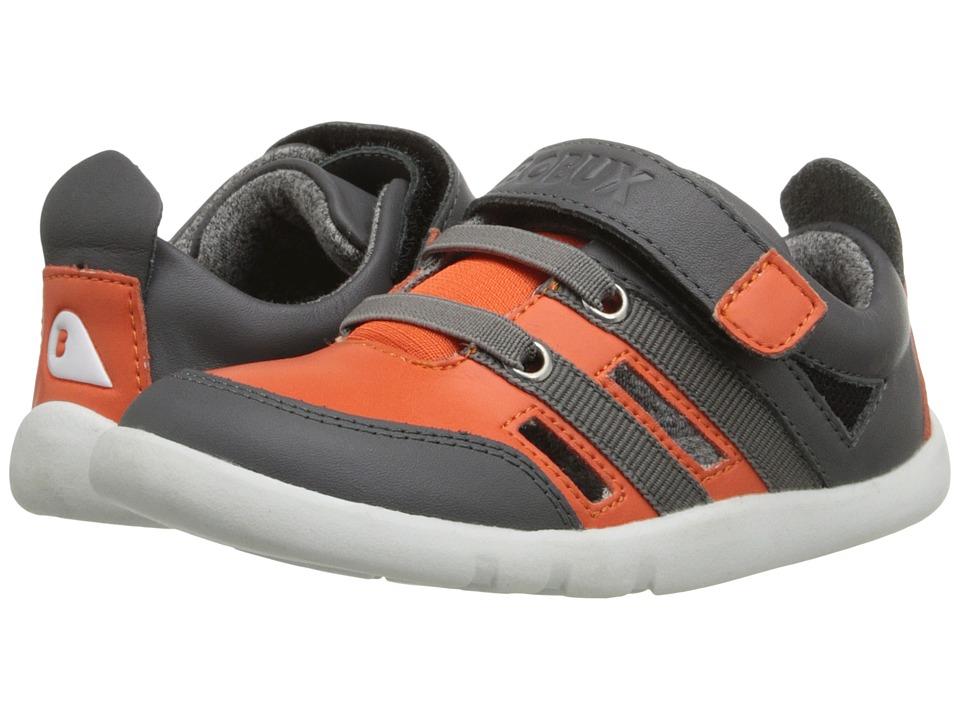 Bobux Kids - I-Walk Street Hyper (Toddler) (Orange/Gray) Boy's Shoes