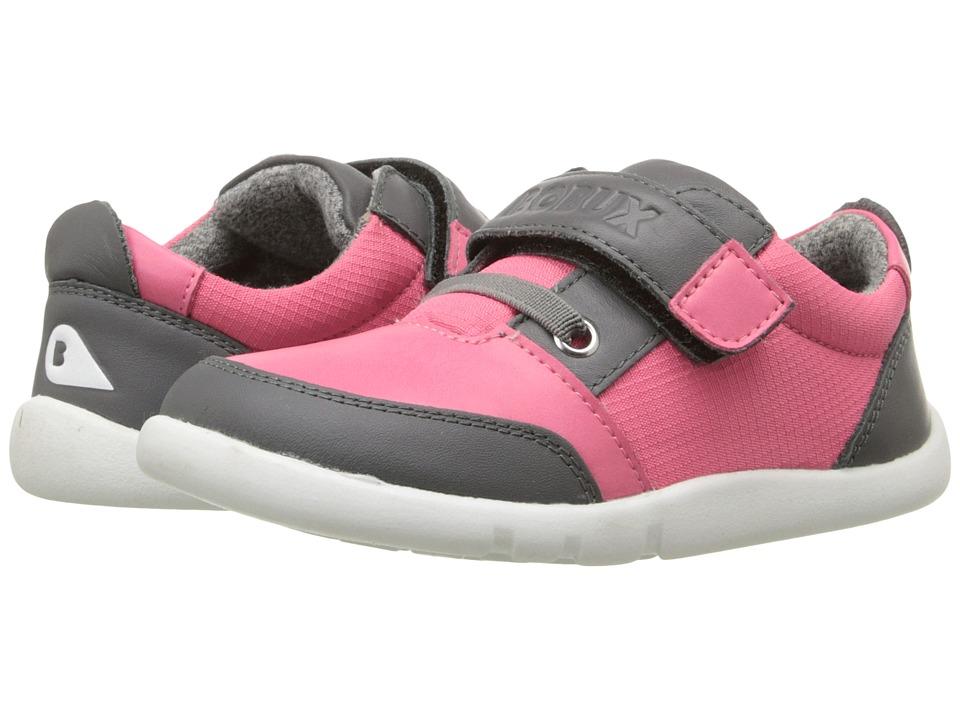 Bobux Kids - I-Walk Street Deca (Toddler/Little Kid) (Fuchsia/Gray) Girl's Shoes