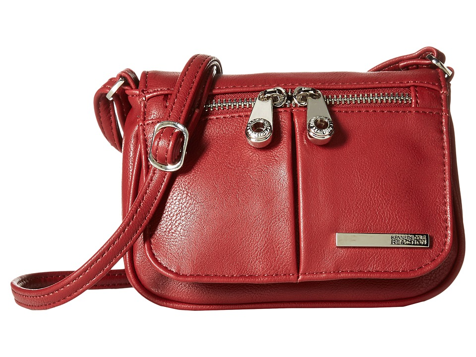 Kenneth Cole Reaction - Wooster Street Small Flap Crossbody (Red) Cross Body Handbags