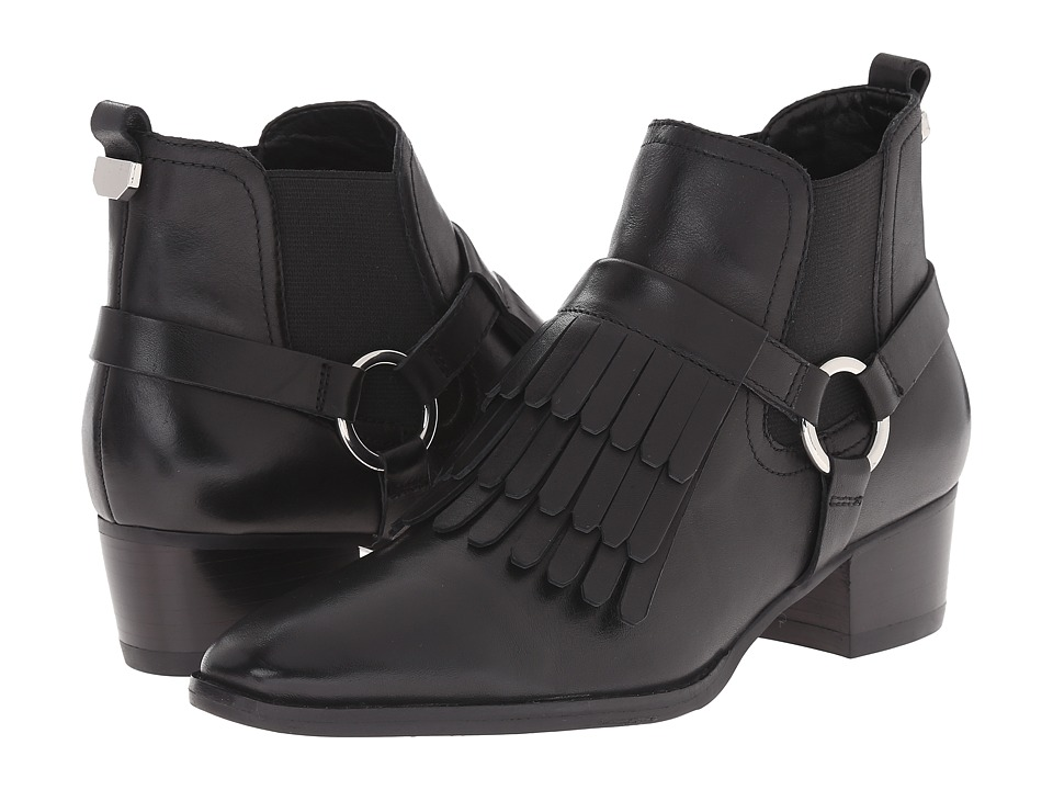 Marc Fisher LTD - Rayna (Black Cordoba/Black Gore) Women's Pull-on Boots