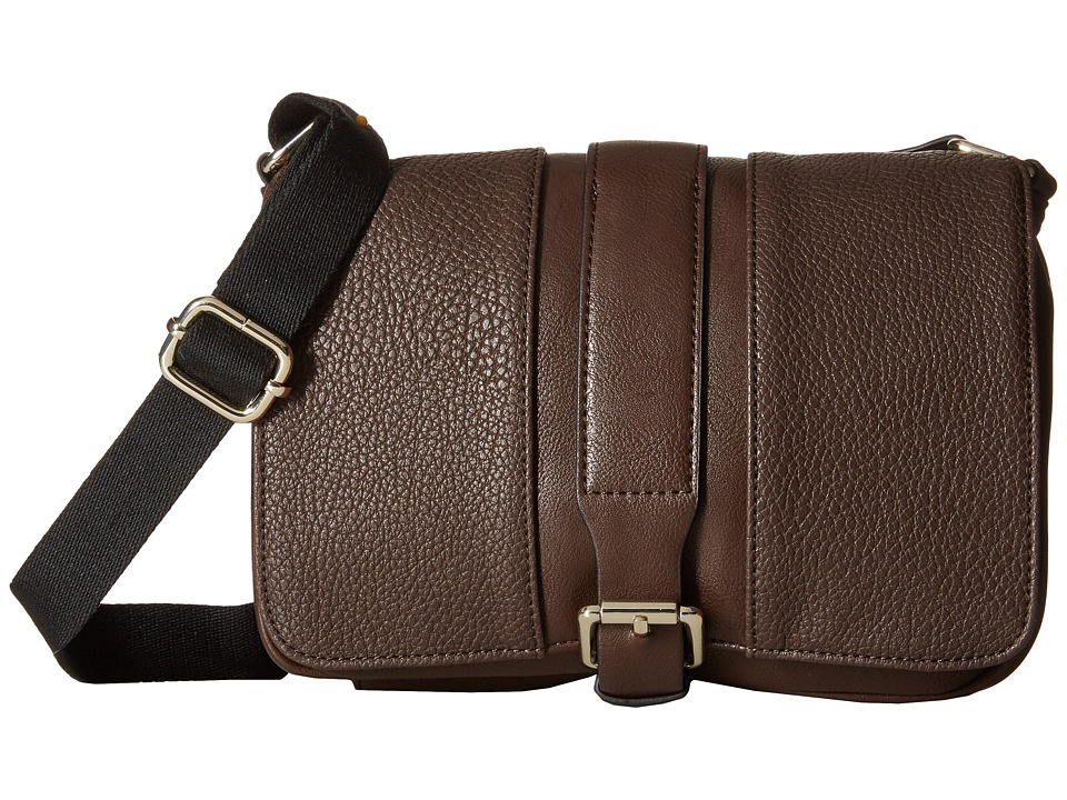 Kenneth Cole Reaction - Inroads Crossbody (Chocolate) Cross Body Handbags