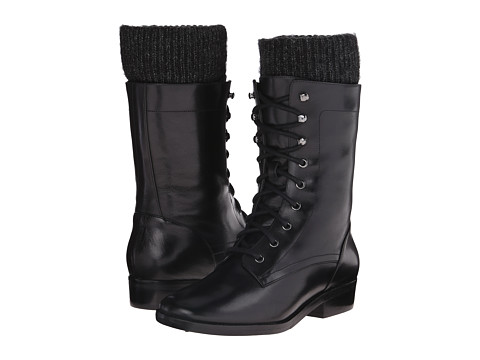 Marc Fisher LTD - Galina (Black Cordoba/Black 5 Dom Cargo) Women's Lace-up Boots