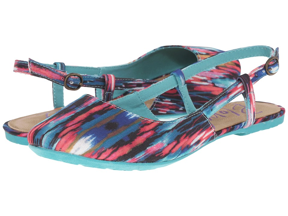 Blowfish - Rumiko (Turquoise/Pink Cabrera Tribal Fabric) Women's Flat Shoes