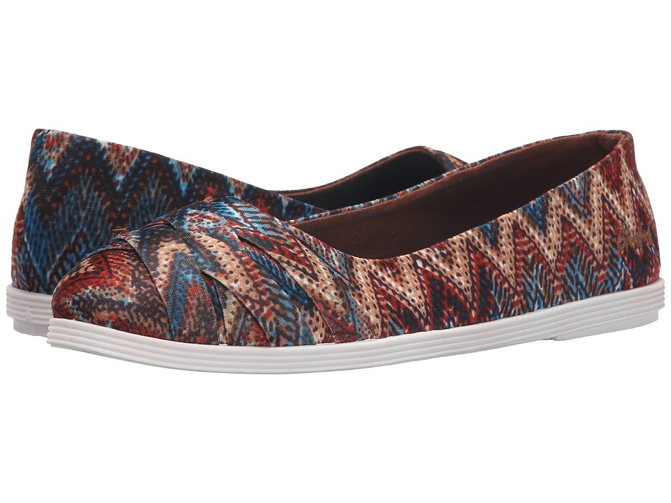 Blowfish - Glo (Rust/Turquoise Palma Tribal Fabric) Women's Flat Shoes