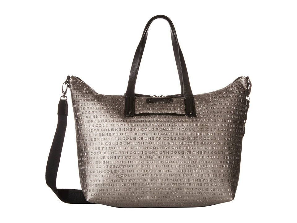 Kenneth Cole Reaction - Mars Mono Shopper (Silver/Black) Handbags