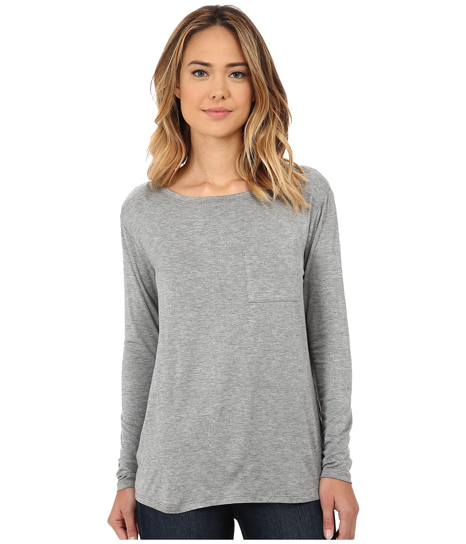 CJ by Cookie Johnson - Long Sleeve Pocket Tee (Heather Grey) Women