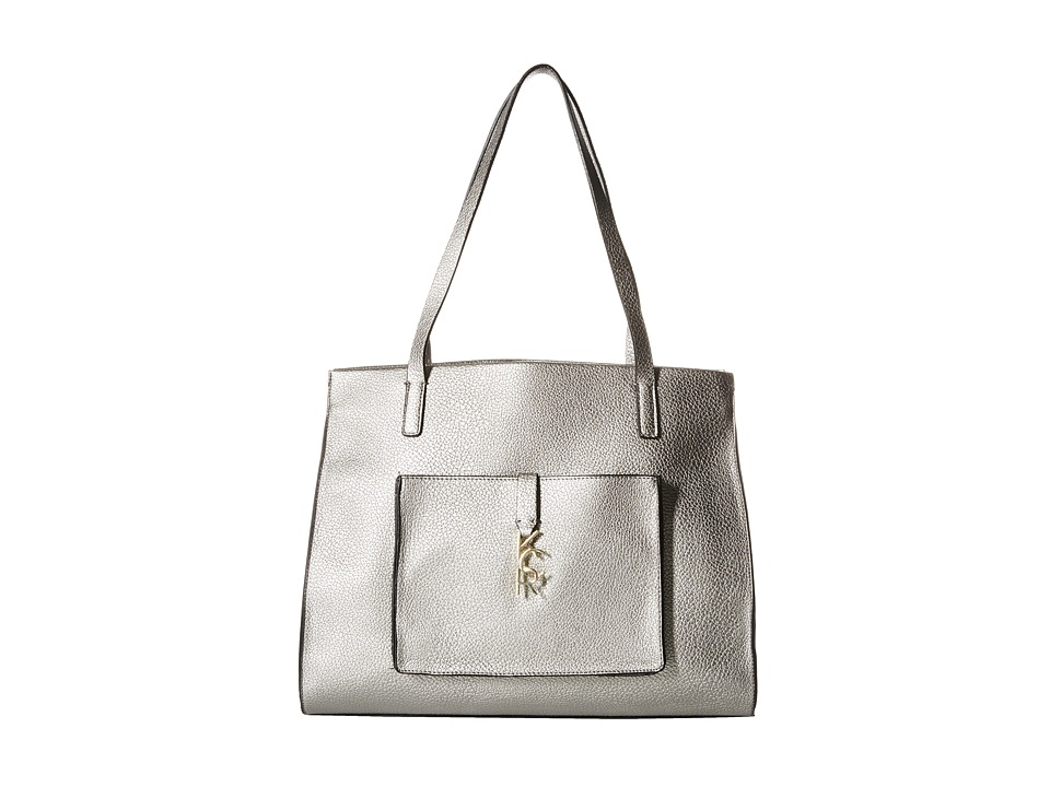 Kenneth Cole Reaction - Letterman Shopper (Silver) Handbags