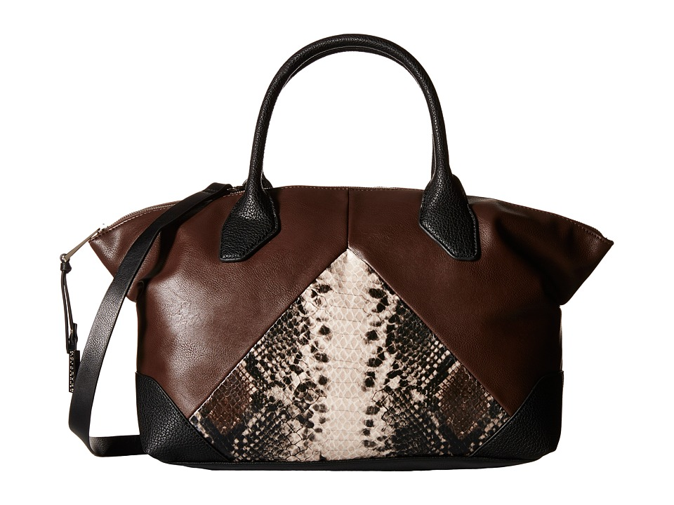 Kenneth Cole Reaction - Easy Peasy Tote (Chocolate w/ Natural Python) Tote Handbags