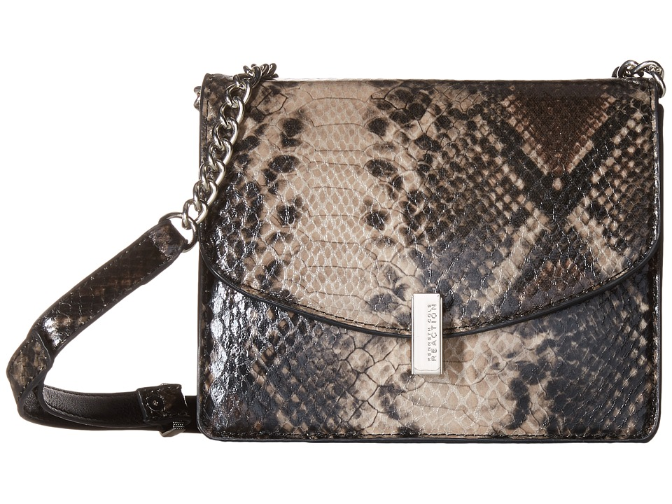 Kenneth Cole Reaction - Winged Victory Chain Flap (Natural Python) Cross Body Handbags