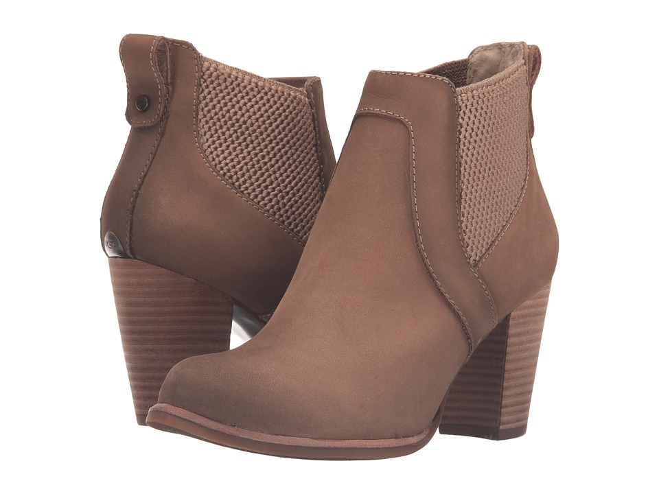 UGG - Cobie (Fawn/Water Resistant Leather) High Heels