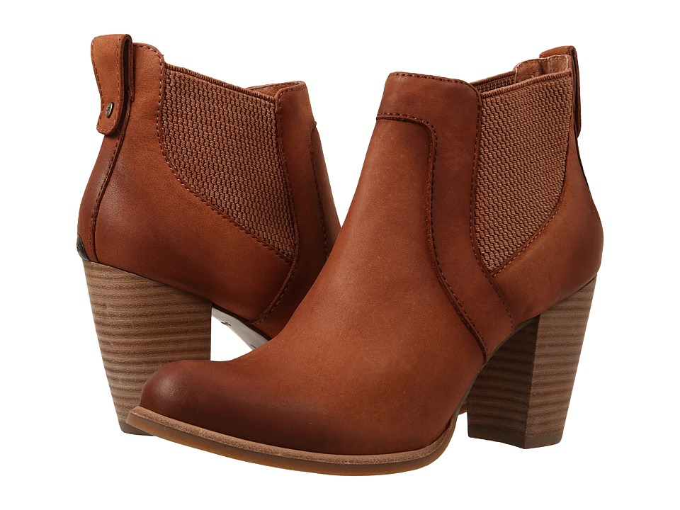 UGG - Cobie (Rust/Water Resistant Leather) High Heels