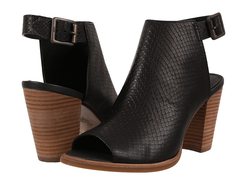 UGG - Audrey Exotic (Black Leather) High Heels