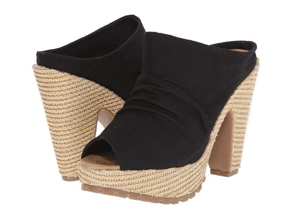 Blowfish Vello (Solid Black Cozumel Linen) High Heels