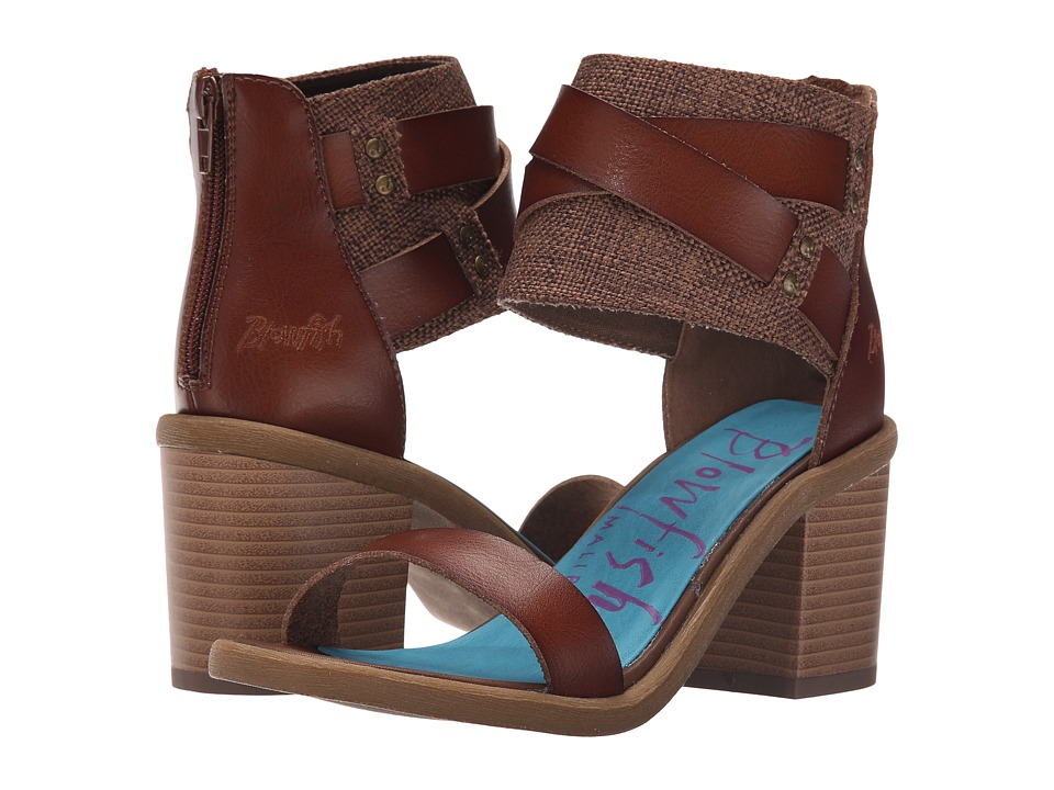 Blowfish Melvin (Whiskey Dyecut/Brown Feedbag Canvas) High Heels