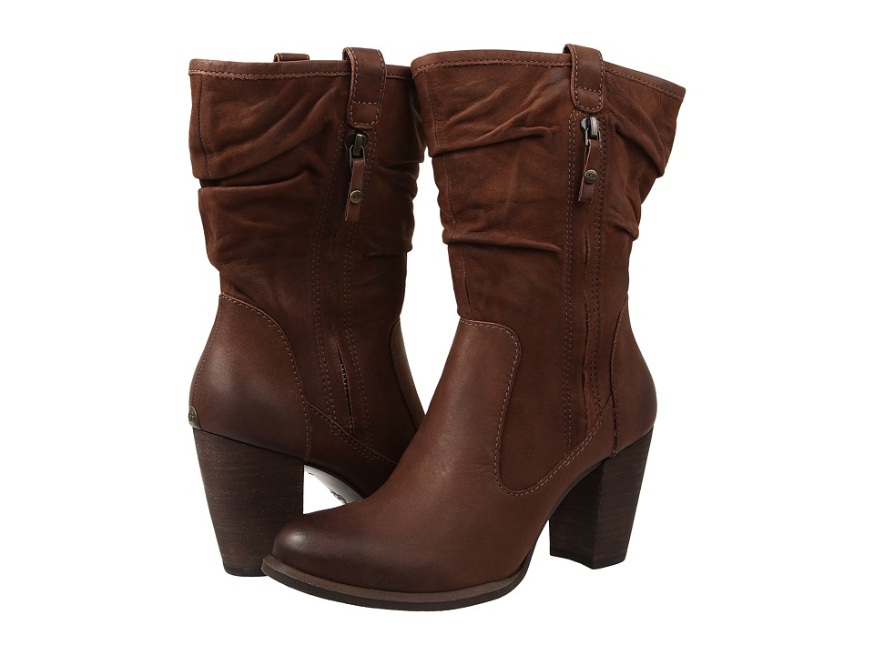 UGG - Dayton (Chocolate/Water Resistant Leather) Women's Zip Boots