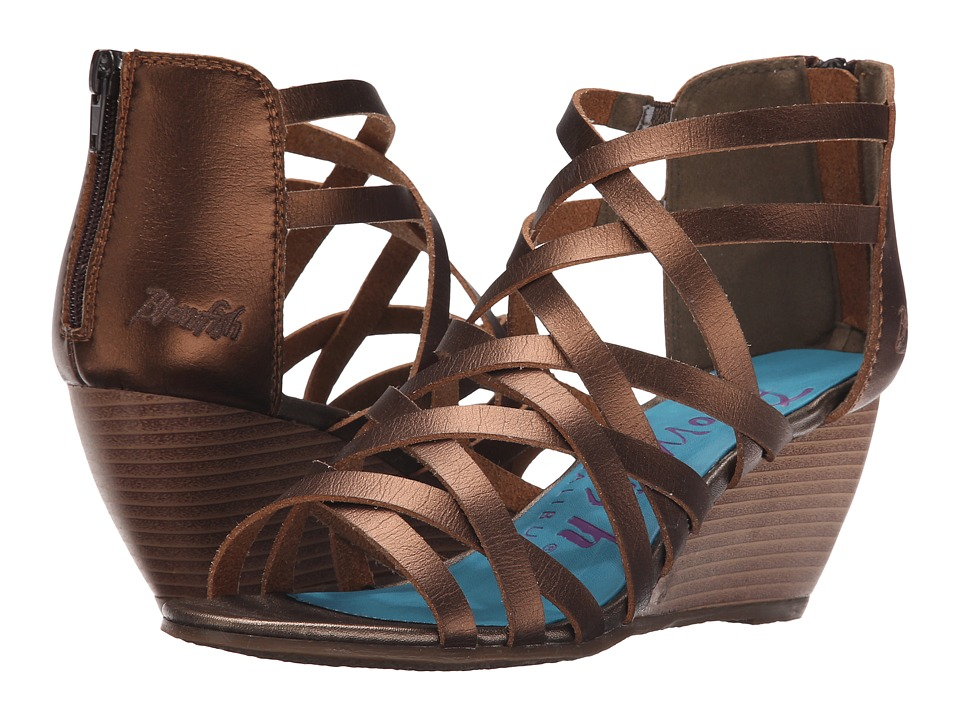 Blowfish - Blip (Bronze Dyecut PU) Women's Wedge Shoes