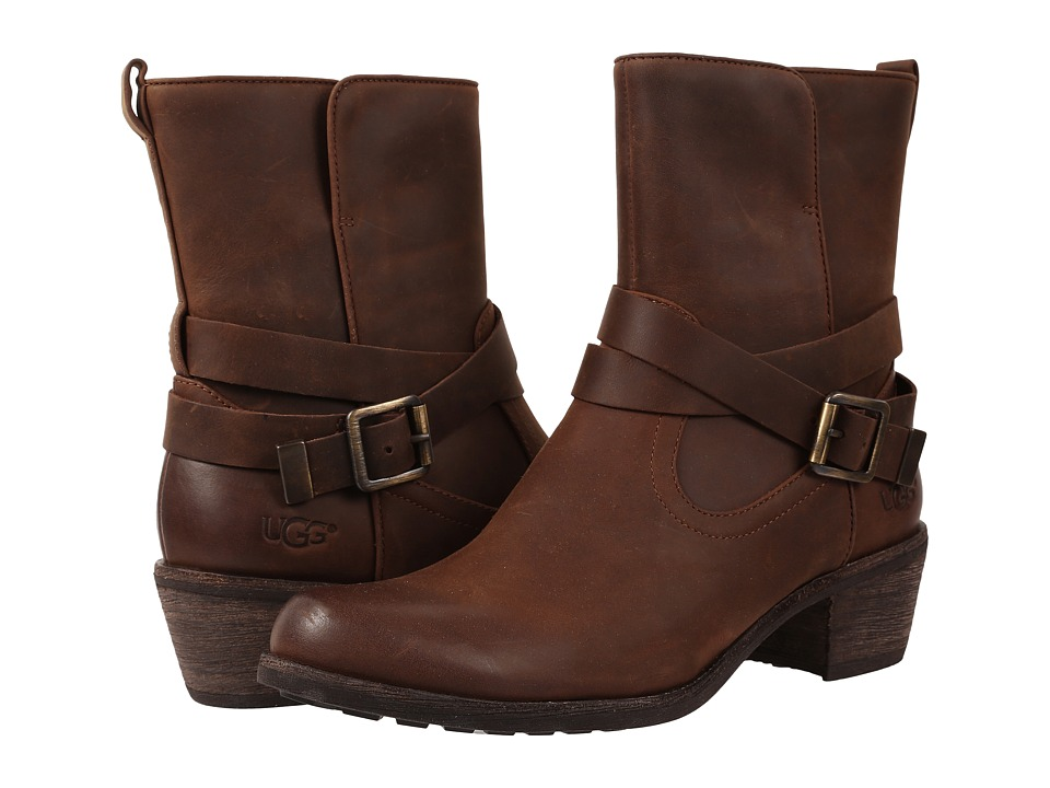 UGG - Lorraine (Chocolate/Water Resistant Leather) Women's Dress Pull-on Boots
