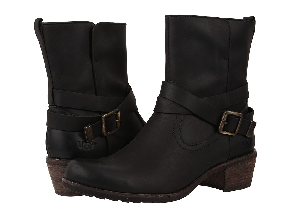 UGG - Lorraine (Black/Water Resistant Leather) Women