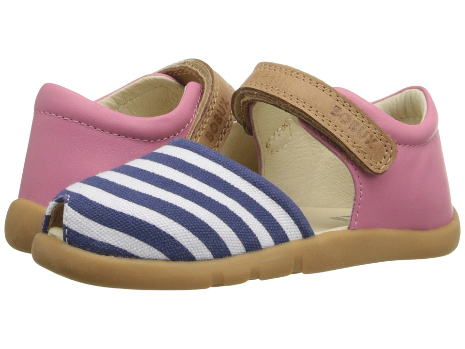 Bobux Kids - I-Walk Classic Twist (Toddler/Little Kid) (Pink/Navy/White) Girl's Shoes