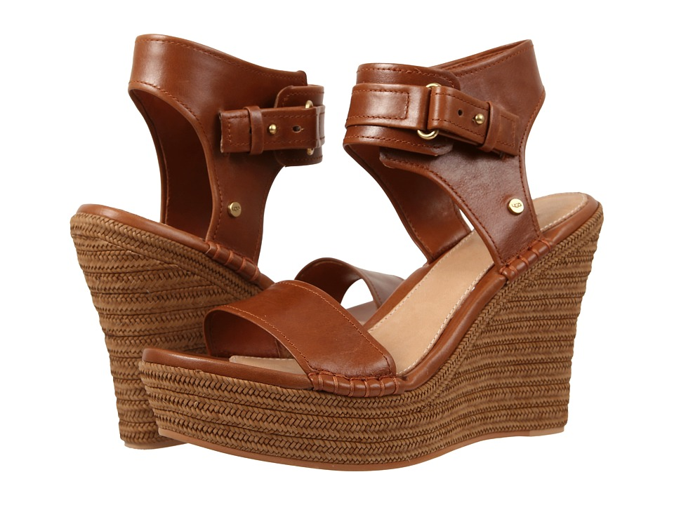 UGG - Maryanne (Rust Leather) Women's Wedge Shoes