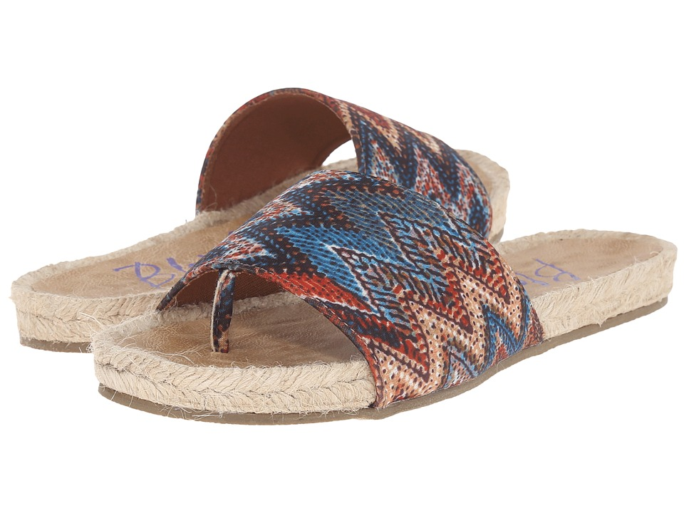 Blowfish - Glore (Rust/Turquoise Palma Tribal Fabric) Women's Sandals