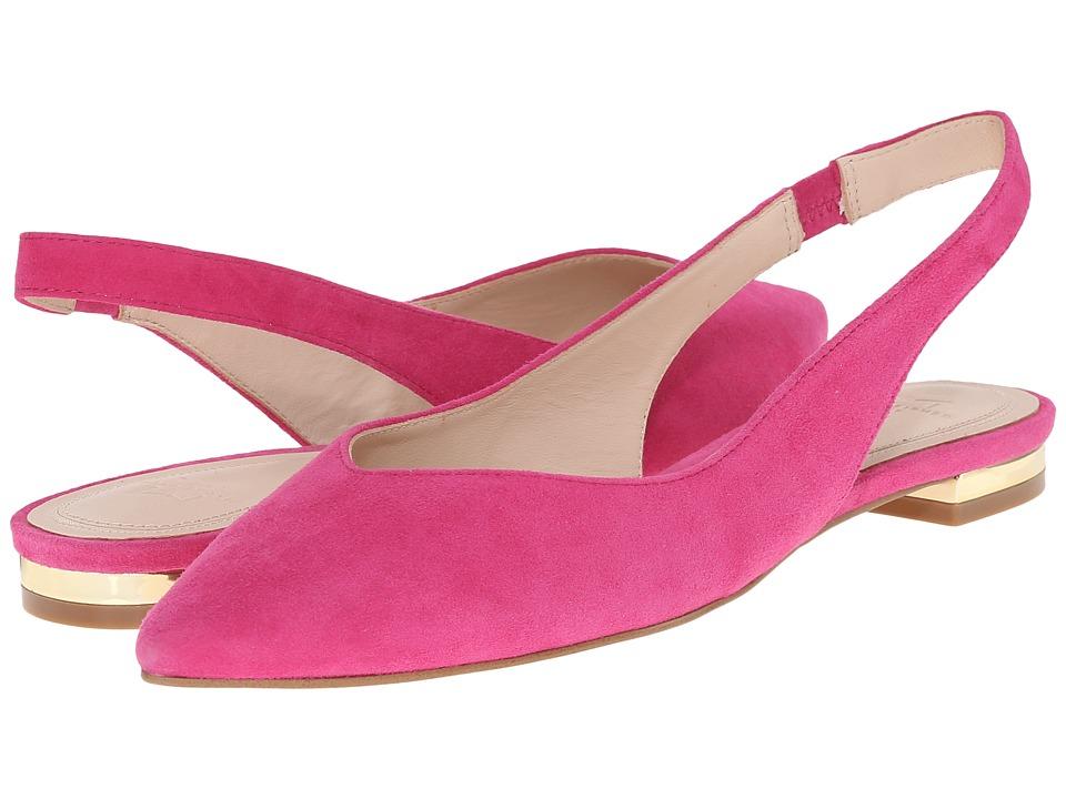 Marc Fisher LTD - Silvia (New Fuchsia Kid Suede) Women's Dress Flat Shoes