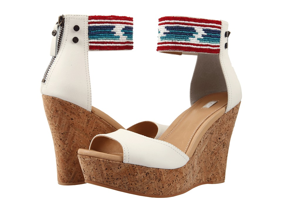 UGG - Jacinda Serape Beads (White Wall Leather) High Heels