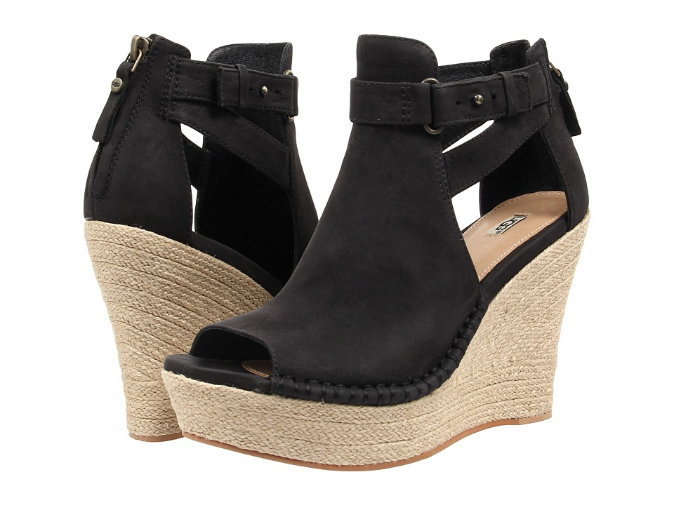 UGG - Jolina (Black Nubuck) High Heels